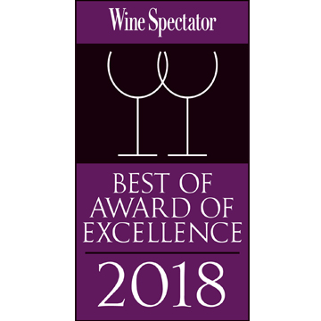 Wine Spectator best of excellence 2018 PUR 360x360